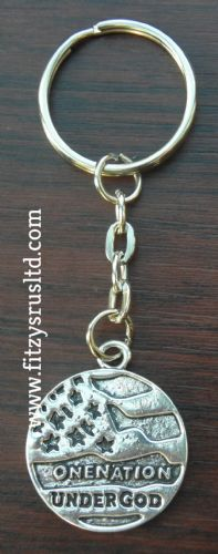 One Nation Under God Key Ring World Peace & Diversity Religious Keyring